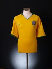2008-10 Brazil Home Shirt S