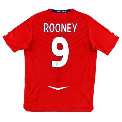 2008-10 England Away Shirt Rooney #9 XXL