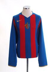 2008-10 FC Basel Home Shirt L/S XXL