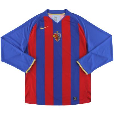 2008-10 FC Basel Nike Home Shirt L/S XXL