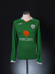 2008-10 Ireland Home Shirt L/S L