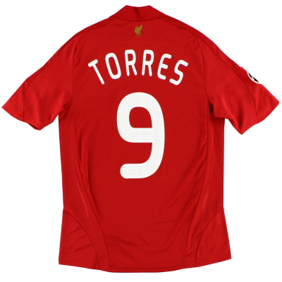 2008-10 Liverpool Champions League Home Shirt Torres #9 S