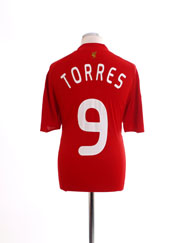 2008-10 Liverpool European Home Shirt Torres #9 L