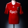 2008-10 Liverpool Home Shirt Gerrard #8 XL.Boys