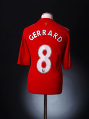 2008-10 Liverpool Home Shirt Gerrard #8 L.Boys