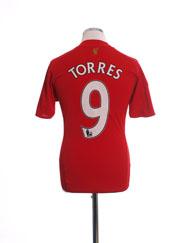 2008-10 Liverpool Home Shirt Torres #9 L