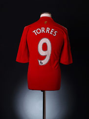 2008-10 Liverpool Home Shirt Torres #9 L.Boys