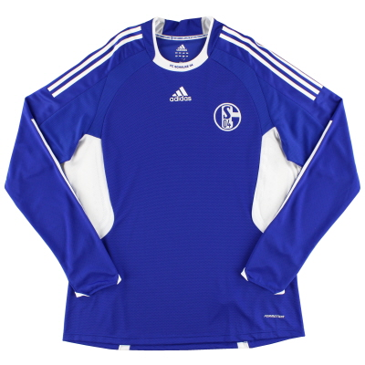 2008-10 Schalke Player Issue Home Shirt L/S XL