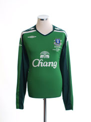 2008 Everton 'Everton V Fiorentina' Goalkeeper Shirt *Mint* XL