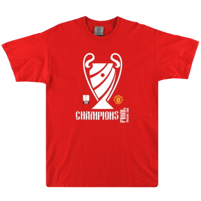 2008 Manchester United Champions League Final Tee L
