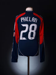 2008 New England Match Issue Home Shirt Phelan #28 L/S M