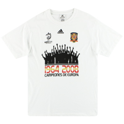 2008 Spain adidas 'Campeones de Europa' Tee M