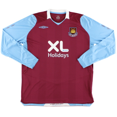2008 West Ham Umbro Home Shirt *As New* L/S XL