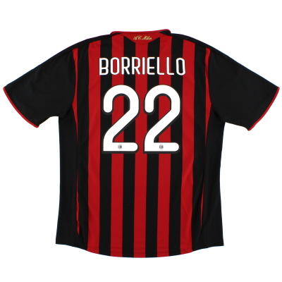 2009-10 AC Milan Home Shirt Borriello #22 XL