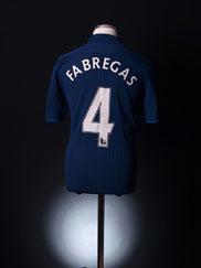 2009-10 Arsenal Away Shirt Fabregas #4 *Mint* M