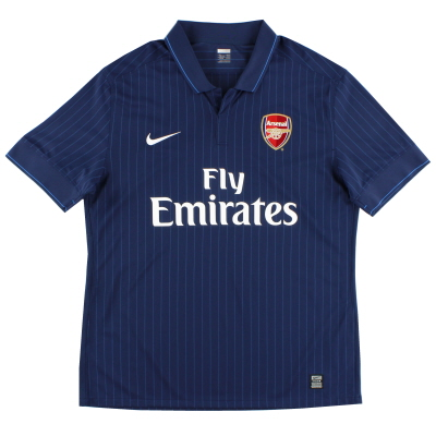 2009-10 Arsenal Away Shirt S.Boys