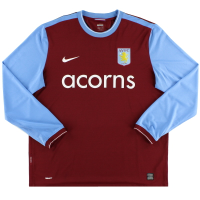 2009-10 Aston Villa Home Shirt L/S *Mint* XL