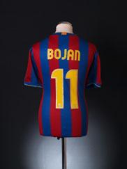 2009-10 Barcelona Home Shirt Bojan #11 L
