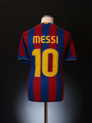 2009-10 Barcelona Home Shirt Messi #10 S