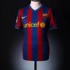 2009-10 Barcelona Home Shirt Messi #10 S