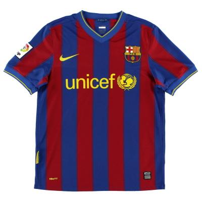 2009-10 Barcelona Home Shirt L.Boys