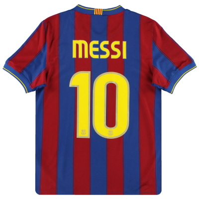 2009-10 Barcelona Nike Home Shirt Messi #10 S