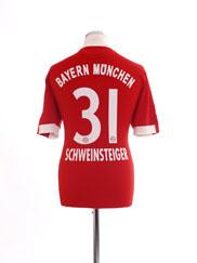 2009-10 Bayern Munich Home Shirt Schweinsteiger #31 M