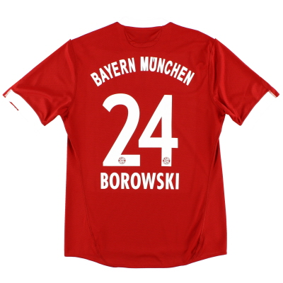 2009-10 Bayern Munich Home Shirt Borowski #24 M