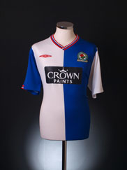 2009-10 Blackburn Home Shirt M