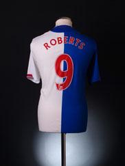 2009-10 Blackburn Home Shirt Roberts #9 L