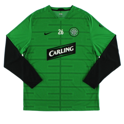 2009-10 Celtic Nike Player Issue Training Shirt #26 L/S *Mint* XL