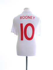 2009-10 England Home Shirt Rooney #10 L