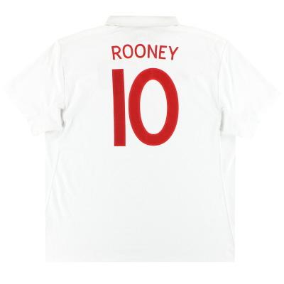 2009-10 England Umbro Home Shirt Rooney #10 L