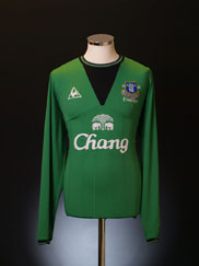 2009-10 Everton Goalkeeper Home Shirt L/S L