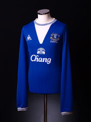 2009-10 Everton Home Shirt L/S L