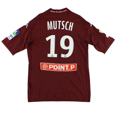 2009-10 FC Metz Match Issue Home Shirt Mutsch #19 L