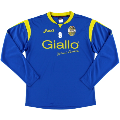 2009-10 Hellas Verona Training Shirt #9 L/S M