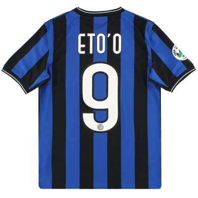 2009-10 Inter Milan Nike Home Shirt Eto'o #9 L.Boys