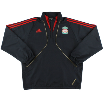 2009-10 Liverpool adidas 1/4 Zip Training Top *Mint* XL