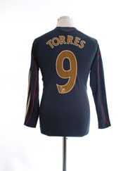 2009-10 Liverpool Away Shirt Torres #9 L/S Y