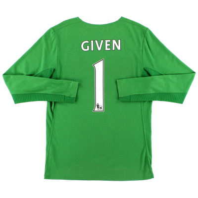 2009-10 Manchester City Goalkeeper Shirt Given #1 S