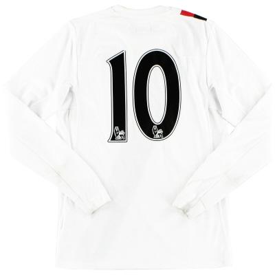 2009-10 Manchester City Third Shirt #10 L/S Y
