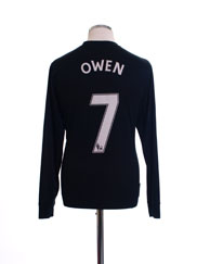 2009-10 Manchester United Away Shirt Owen #7 L/S M