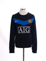 2009-10 Manchester United Away Shirt L/S *Mint* XL