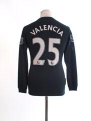 2009-10 Manchester United Away Shirt Valencia #25 XL.Boys