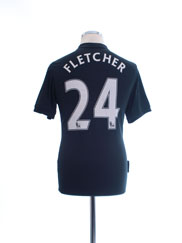 2009-10 Manchester United Away Shirt Fletcher #24 S