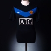 2009-10 Manchester United Away Shirt Vidic #15 M
