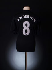 2009-10 Manchester United Away Shirt Anderson #8 L