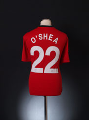 2009-10 Manchester United CL Home Shirt O'Shea #22 XL