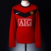 2009-10 Manchester United Home Shirt Giggs #11 L/S L